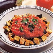 Domates Soslu Patlıcan Kızartma