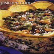 Bezelyeli Pirinç Salatası