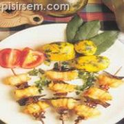Karidesli Pisi Balığı Şiş