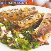 Mantarlı ve Jambonlu Sıra Kebabı