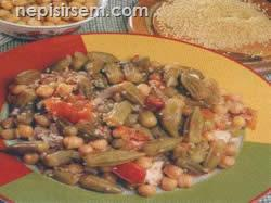 Tavuklu Nohutlu Bamya anlatımlı resimli tarifi Tavuklu Nohutlu Bamya video sebze yemekleri