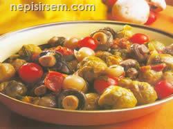 Brüksel Lahanalı Mantar anlatımlı resimli tarifi Brüksel Lahanalı Mantar video sebze yemekleri