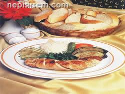 Dil Peynirli Mantarlı Piliç Sarma (4 Kişilik) tarif tarifi