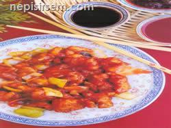 Tatlı Ekşili Tavuk (4 kişilik) (Çin Mutfağı) tarifi