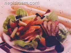 Füme Alabalık ve Pancar Salatası  tarifi
