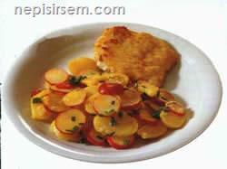 Balıklı Patates Salatası  tarifi