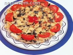 Pazılı Makarnalı Omlet  tarifi